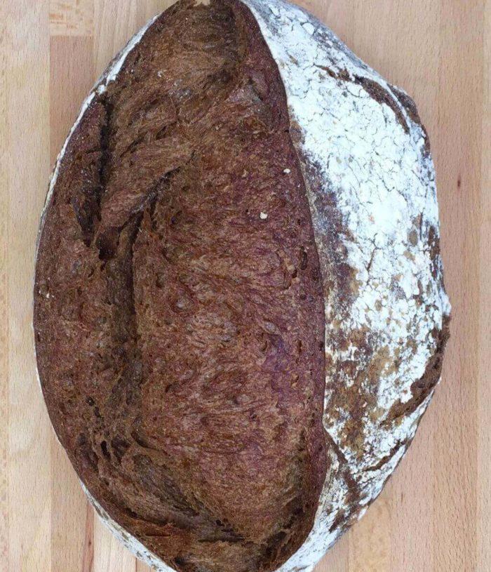 dark sourdough bread