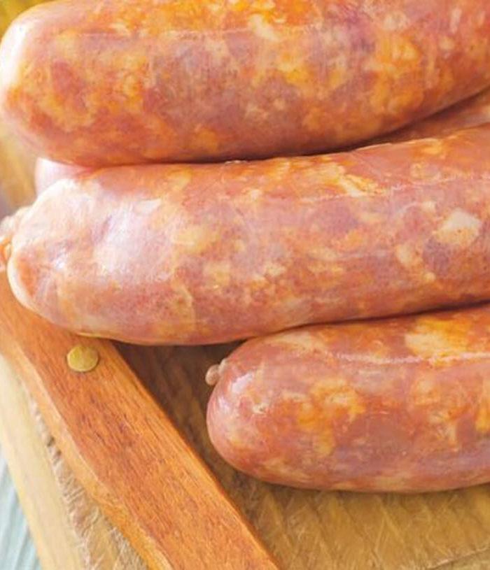 Chicken, Cheese & Rich Tomato Sausages