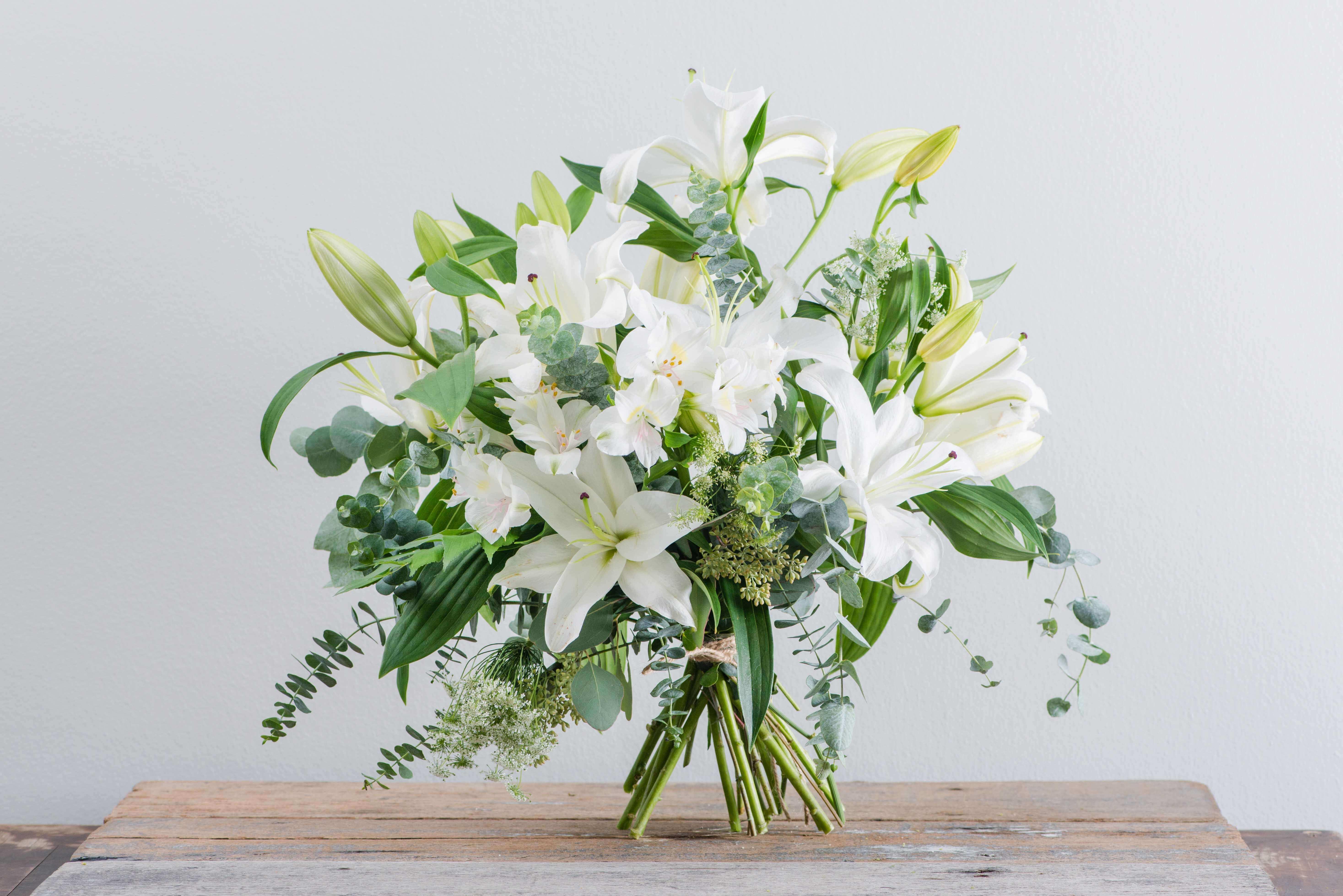 Flower Bouquet Online White Flowers Straits Market Singapore