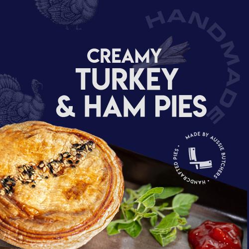 Creamy Turkey & Ham Pie