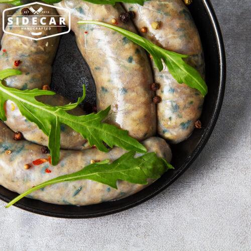 Mediterranean Parmesan and Rocket Sausages