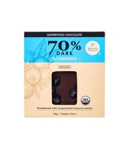 Organic Superfood Chocolate (70% Dark) with Blueberries