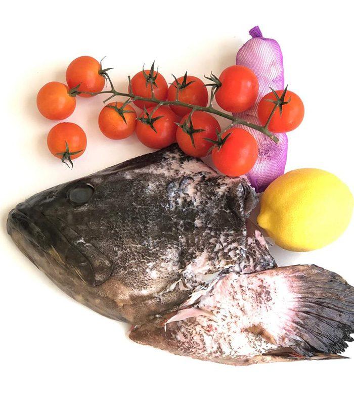 BluCurrent Hybrid Grouper Fish Head - Frozen